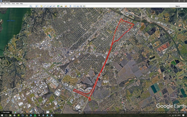 GPS Arduino Data Plotted in Google Earth