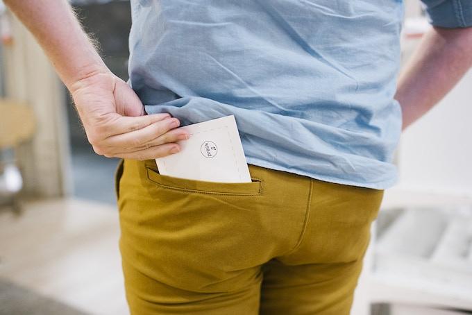 Easily fits in back pocket