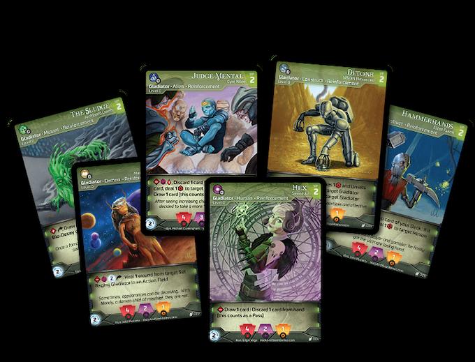 This promo lot contains six (6) Reinforcement Gladiators