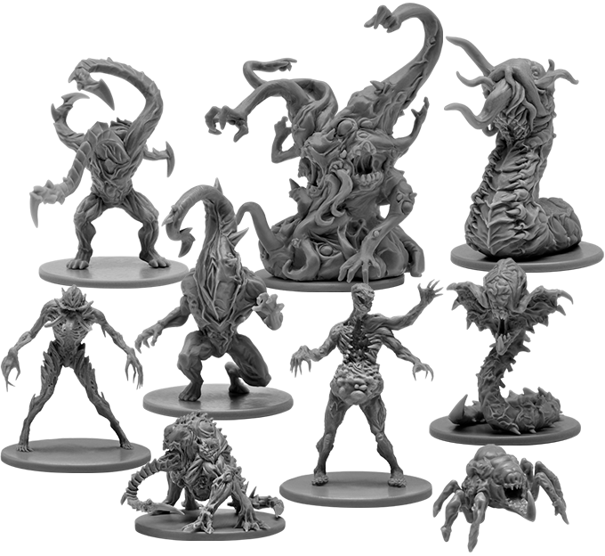 Nightmarish Core Game Monsters.