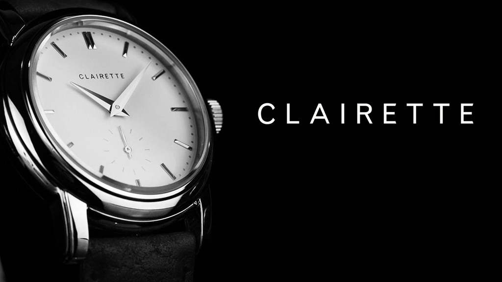 Clairette Watches - Vintage aesthetics with modern materials project video thumbnail