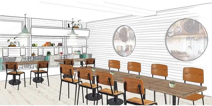 The Canteen on Portland design rendering.