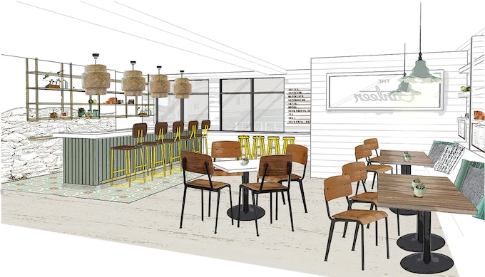 The Canteen on Portland bar design rendering.
