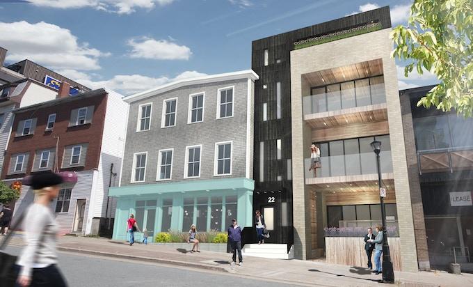 22 Portland Street Design Rendering (Exterior design by Ekistics Plan + Design)