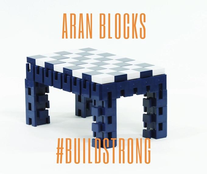 Aran Blocks small table - 52 blocks and 40 covers