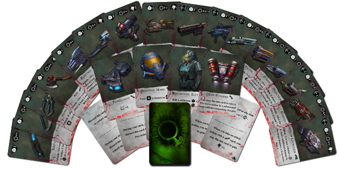 The Core Game contains 44 search cards in 26 different types.