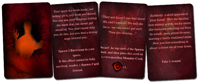The Core Game contains 40 madness cards. Work in progress version.
