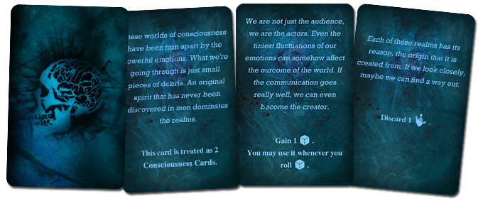 The Core Game contains 40 consciousness cards. Work in progress version.