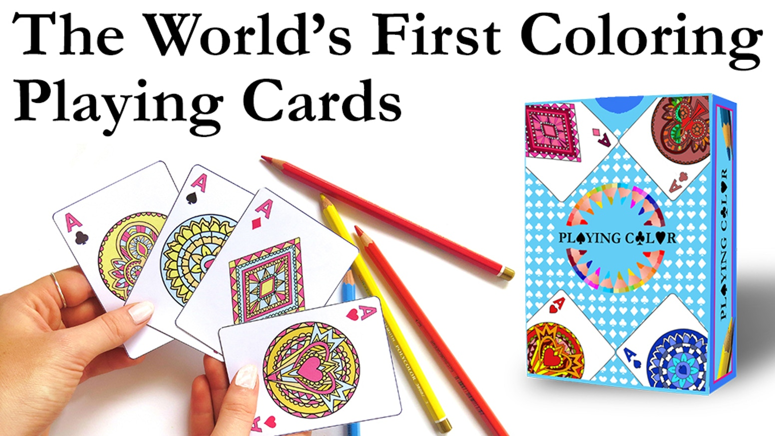 Fusing Coloring Books and Playing Cards. Check them out here at: http://www.playingcolor.com/
