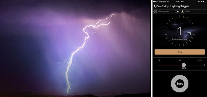 Lightning triggered shooting