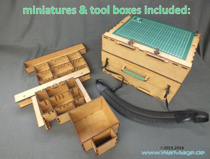 portable paint station take paints minis tools with you by war