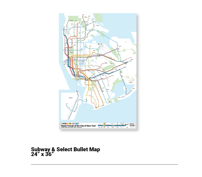 Subway Map Paper Products.Nyc Bullet Map One Map One City By Anthony Denaro Kickstarter