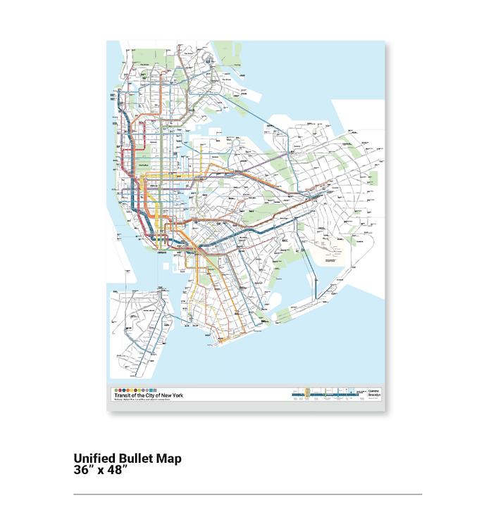 NYC Bullet Map One Map One City By Anthony Denaro Kickstarter - 36 x 48 world map