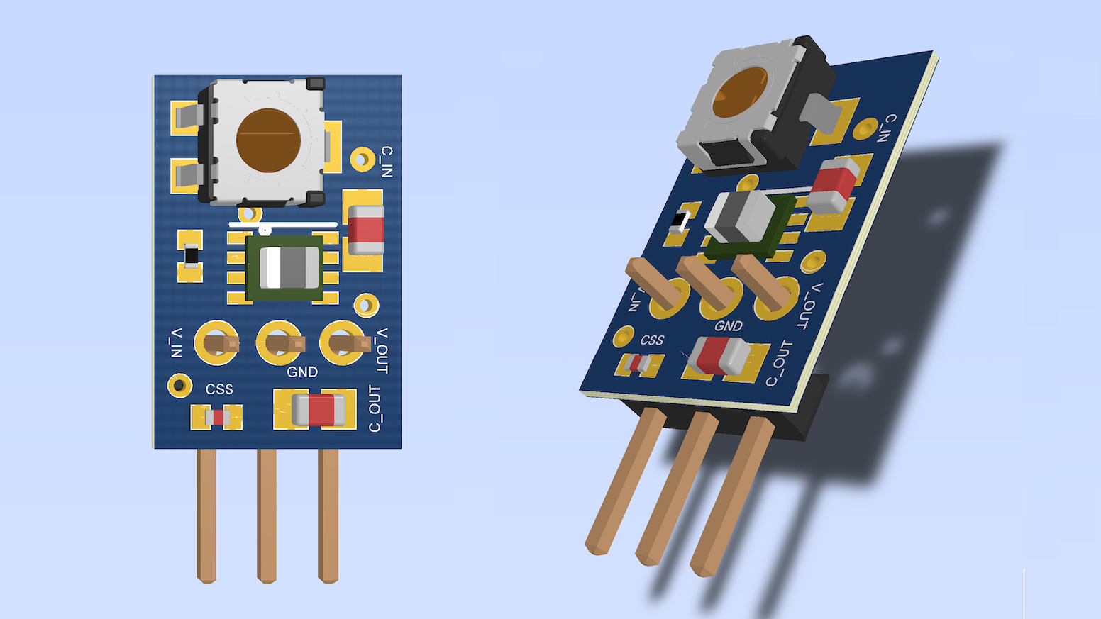 PS-1A is an adjustable switch mode DC-DC power supply. It is highly compact, breadboard friendly and requires no external components.