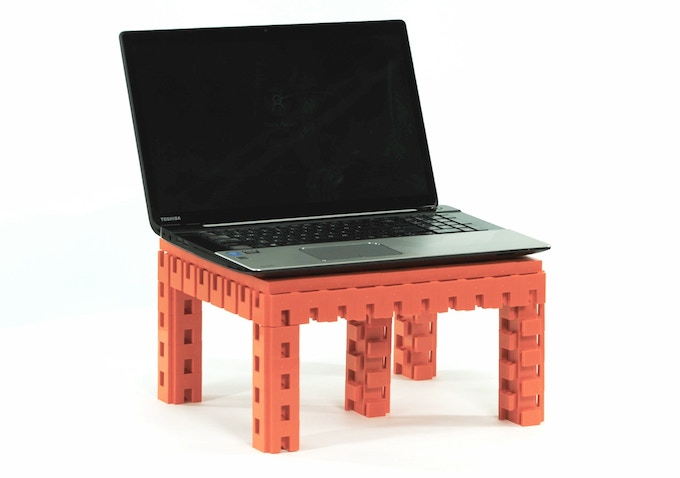 Aran Blocks laptop stand - 100 blocks and 80 covers (That's a BIG laptop)