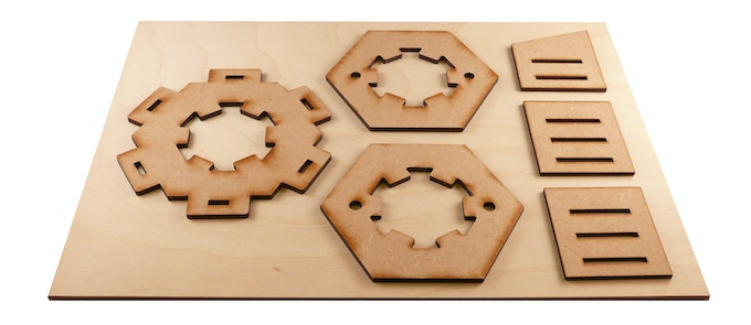 Extra tools included in the Pro Maker reward (note that the Cog cutout tabbed hex brace and both Cog cutout hex tools are upgrades from their basic equivalents in the Hex Maker and Hill Maker rewards).