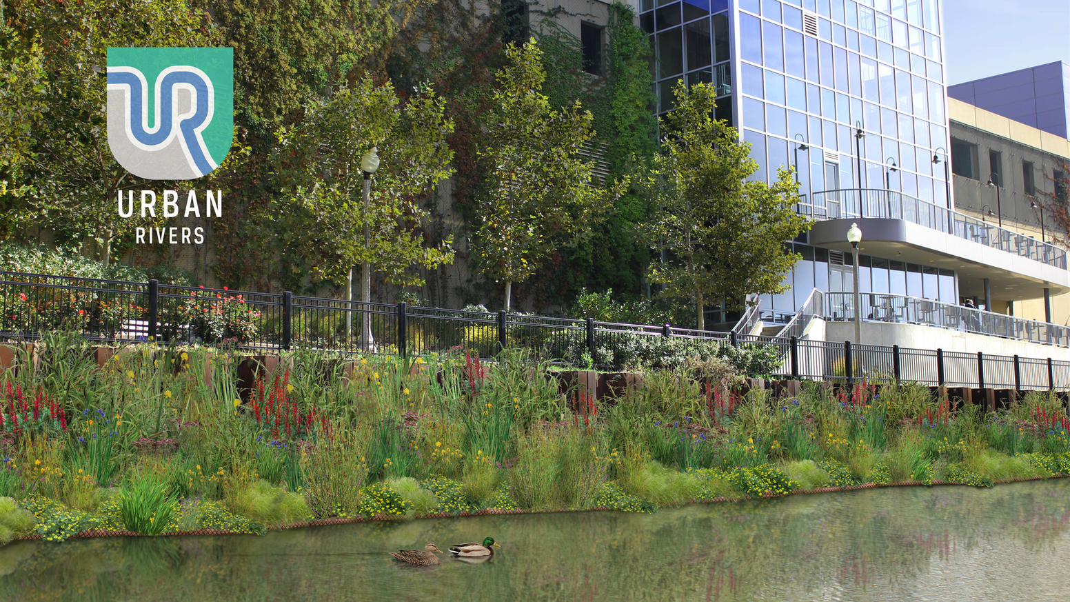 Floating Gardens in the Chicago River by Urban Rivers
