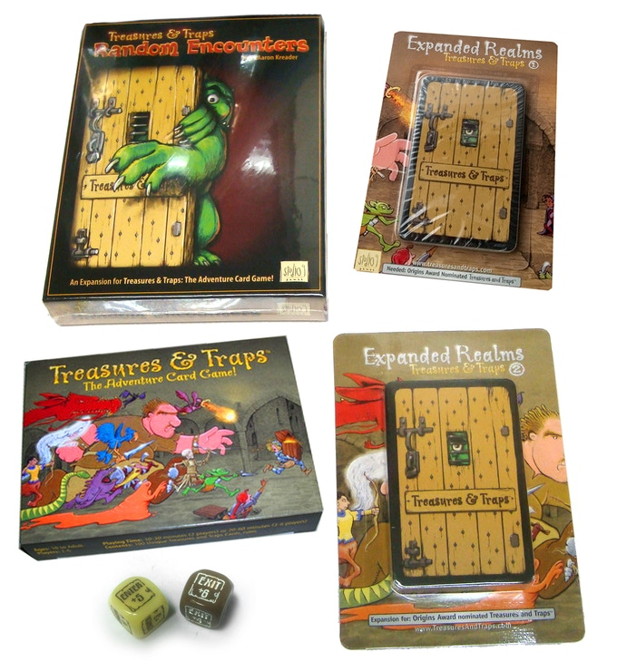 Origins Award Nominated Treasures & Traps: Expansion: Kickstarter 2014