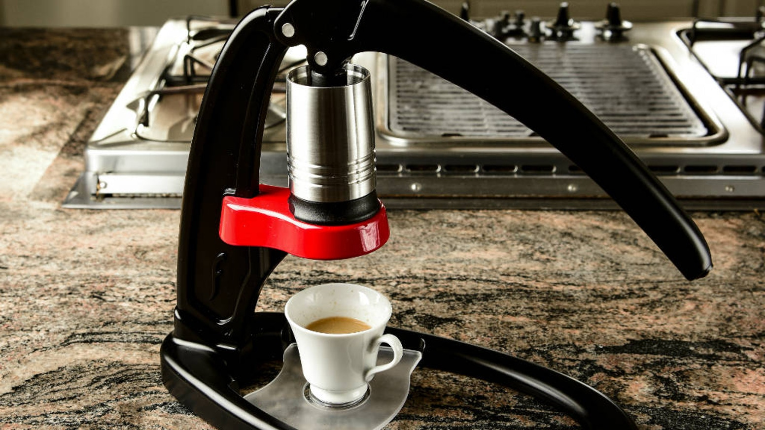 Minimalist, robust, and portable espresso maker lets you craft - by hand - professional quality espresso, exactly how you like it. Thank you Backers! Our project is fully funded. Visit our website www.flairespresso.com to find out more!