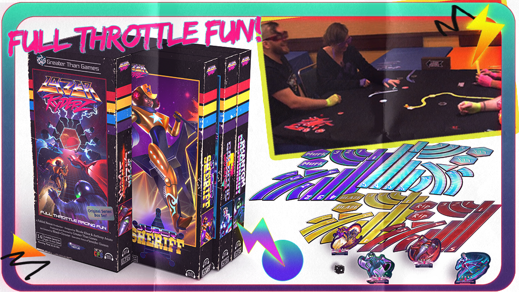 Lazer Ryderz! The Totally Rad Tabletop Racing Game! project video thumbnail