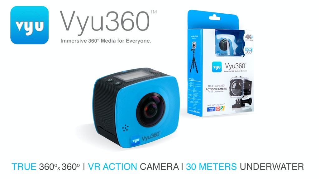 Underwater IP9K 4K True 360 VR Action Camera Photo & Video project video thumbnail