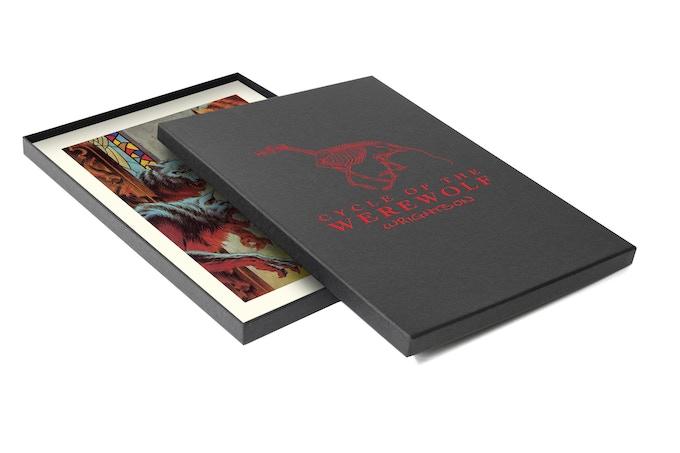 Custom portfolio box with foil stamped logo!