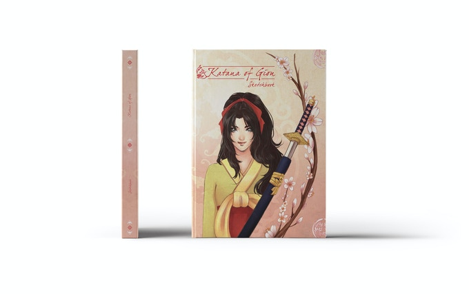 Katana of Gion Sketchbook, Cover by Narilys