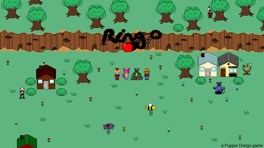 "Project Ringo is a 90's retro styled RPG for PC inspired by classics from the 90's such as the ""Mother"" series and ""Chrono Trigger""."