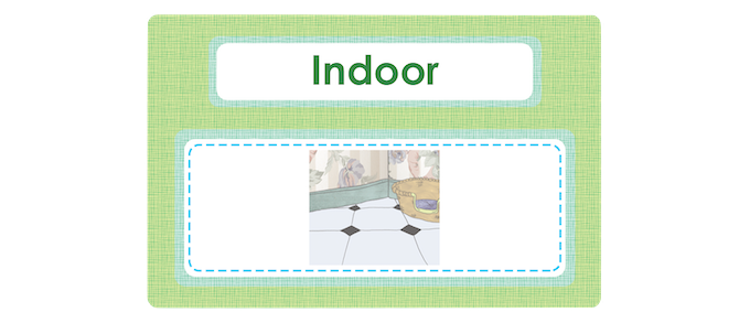One of the twenty-seven value cards: Indoor cat. A simple activity is to count how many indoor cats each child has and see who has the most.