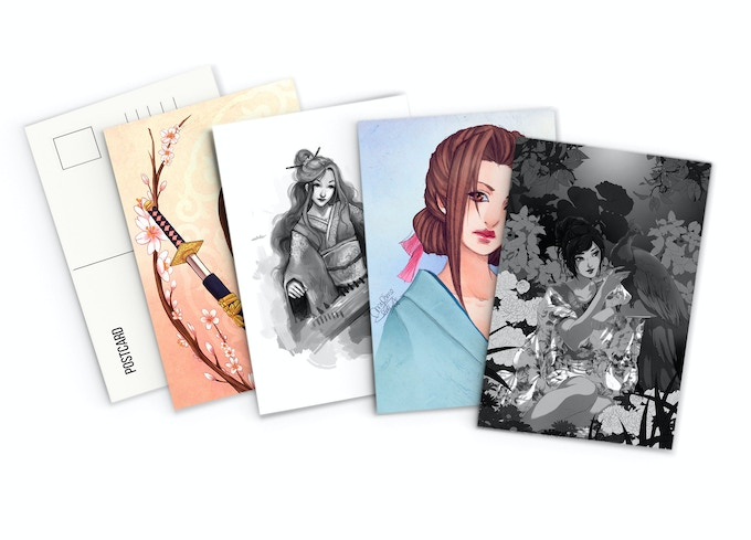Postcard Set Ft. Art by Kme, Fee-Absinthe, UtenaxChan and Narilys