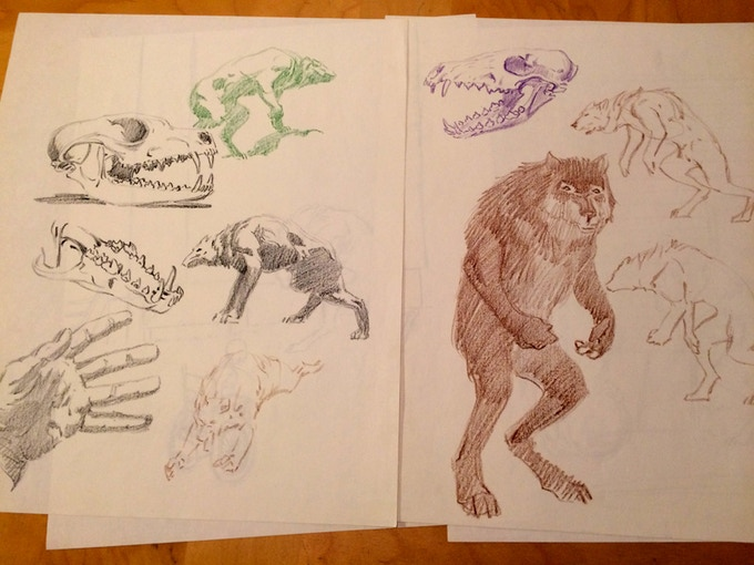 Original Cycle of the Werewolf sketches from 1983!