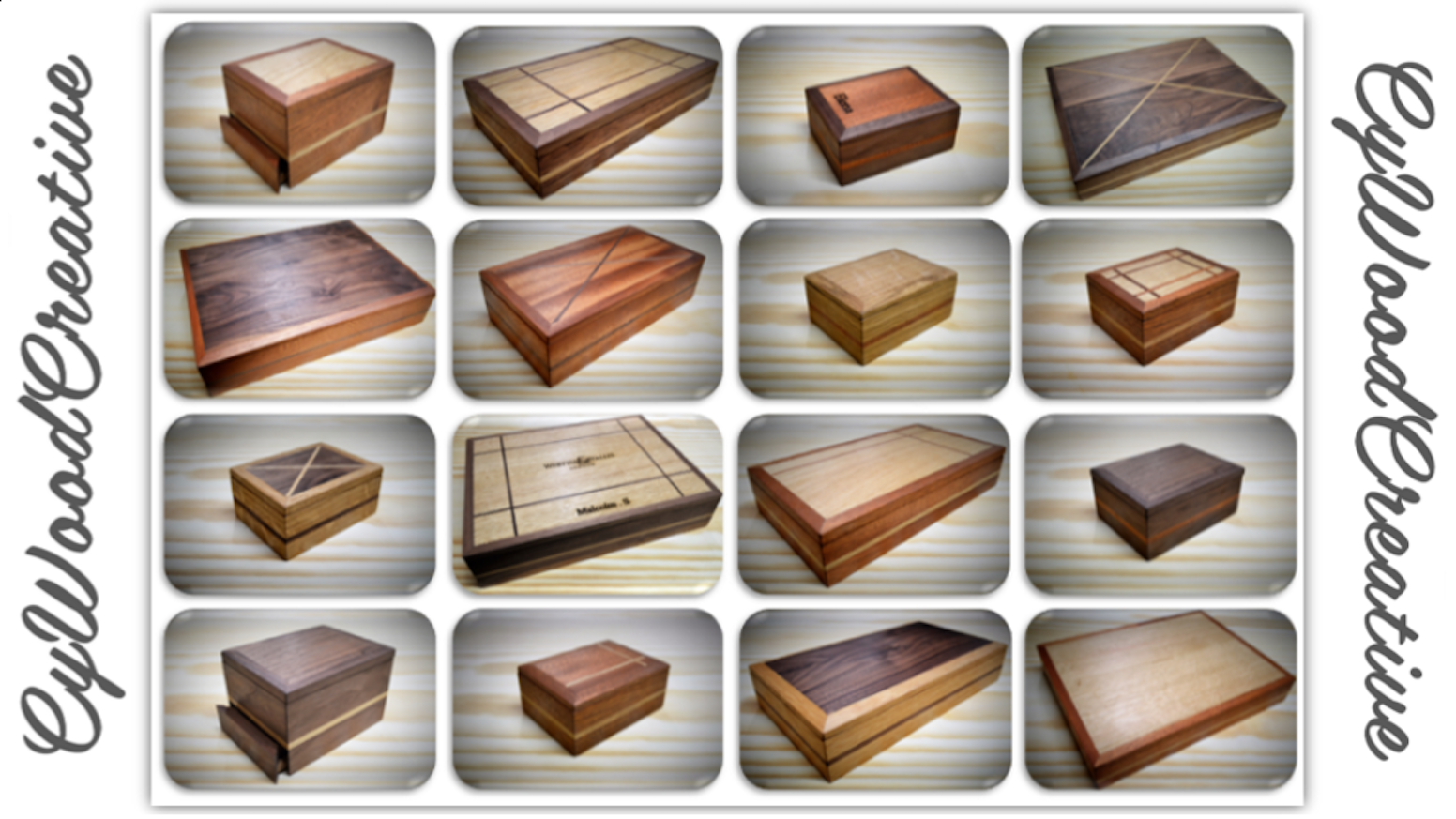 CyWoodCreation Custom Wooden Boxes With Hidden Compartment