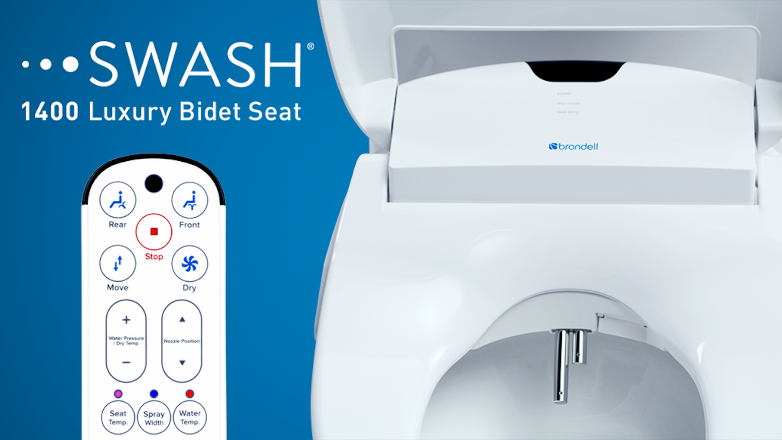 Brondell Swash Intelligent Electronic Bidet Toilet Seat By