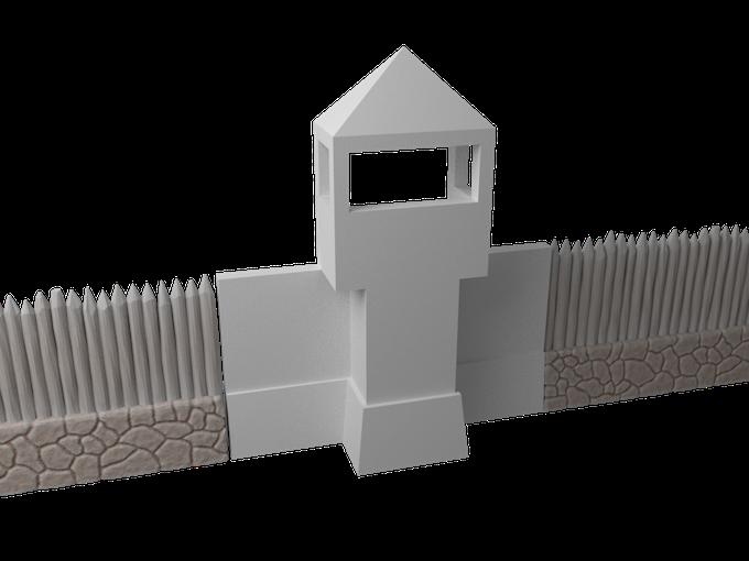 Viking palisade watchtower
