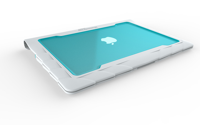 """A render of what the MacBook Air 13"""" case will look like after production."""