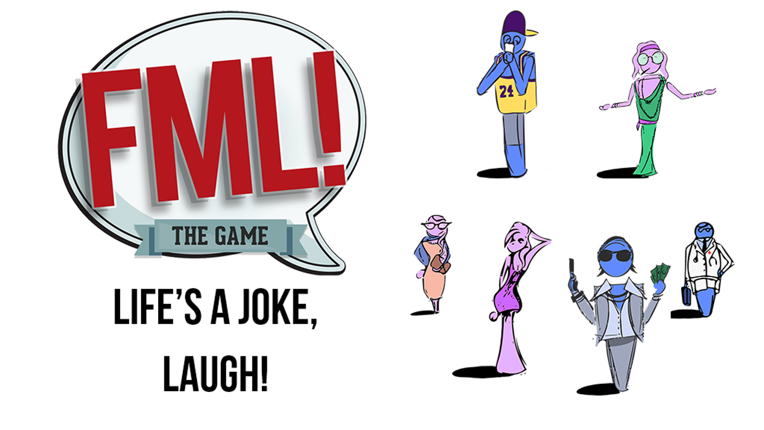 FML! The Game is a party in a box. It is a board game that simulates life with fun moments around every turn.Buy today using the big blue button below!