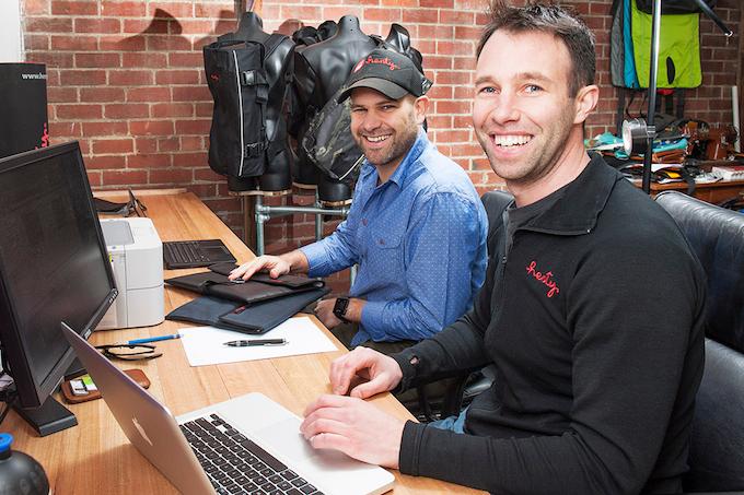 Jon & Jeremy in the Henty office in Hobart, Australia