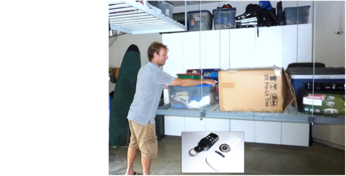 Easy retrieval of your stored items - No back-breaking!!