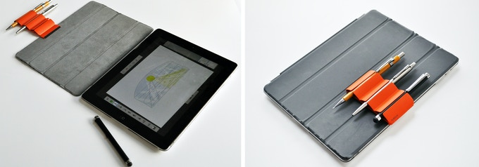 Can fit to tablet covers for storing your stylus and other stationery