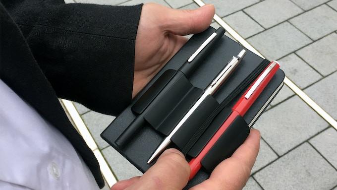 On a pocket notebook