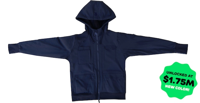 All-Weather Navy Jacket (with navy accents and sherpa lining)