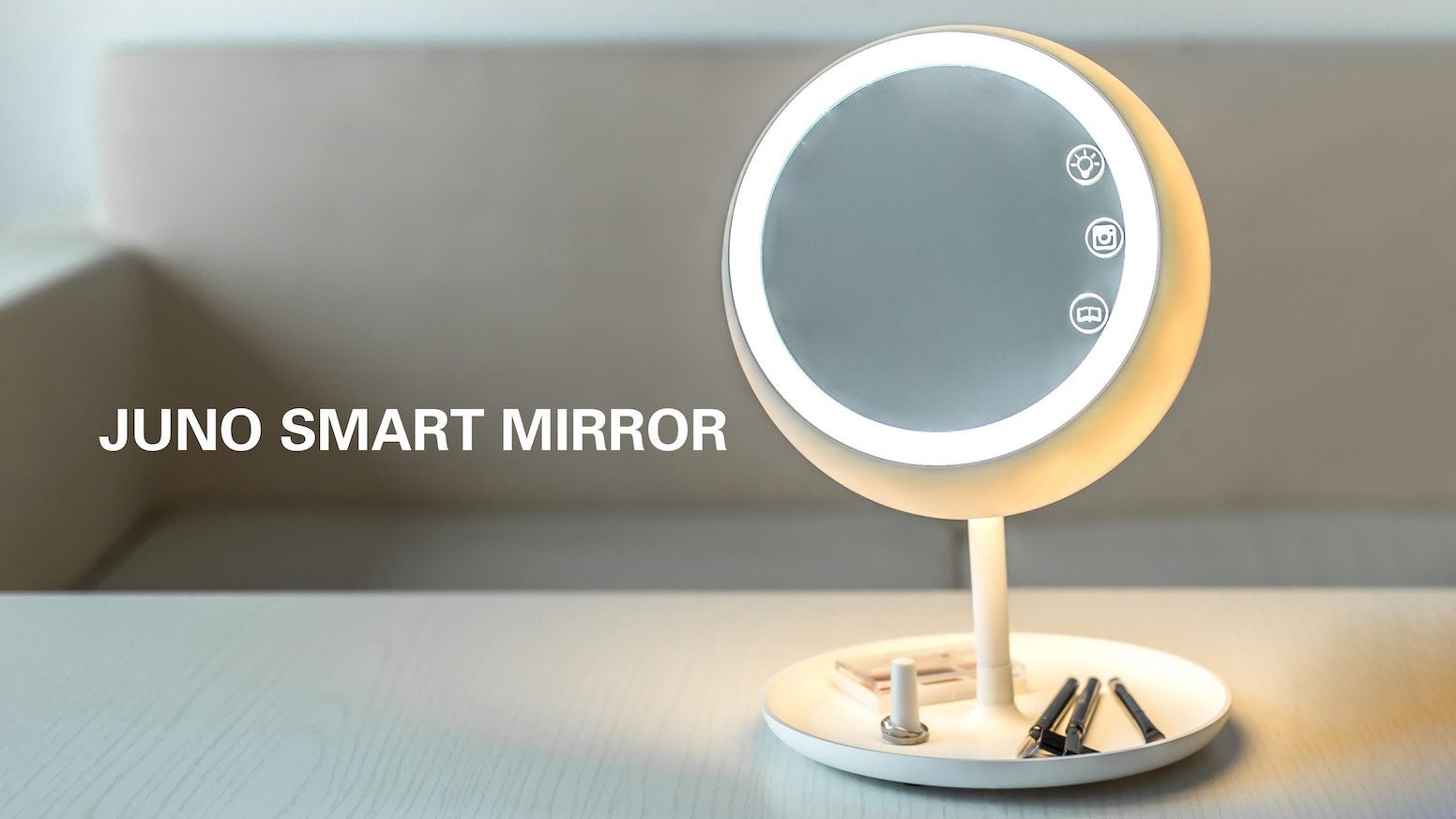 Your morning make up just got easier. The first intelligent make up mirror with auto sensing technology. 4 products in 1.