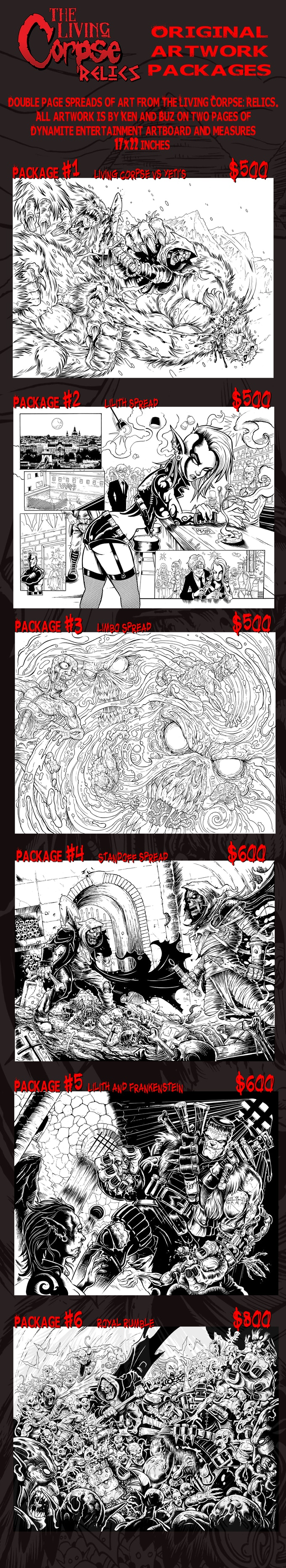 Living Corpse double page spreads by Ken and Buz