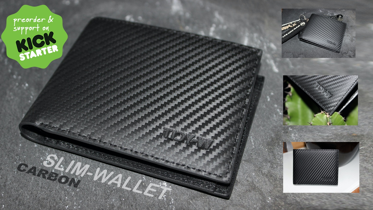 Carbon Leather Ultra Slim Wallet Designed For Minimalists By Eike