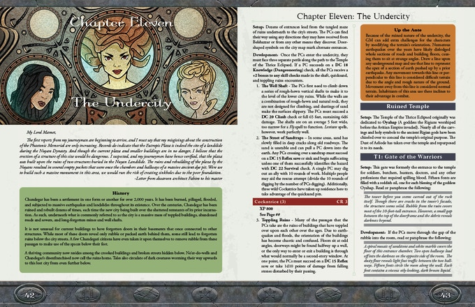 Sample Pages (Copyright Mór Games 2016)