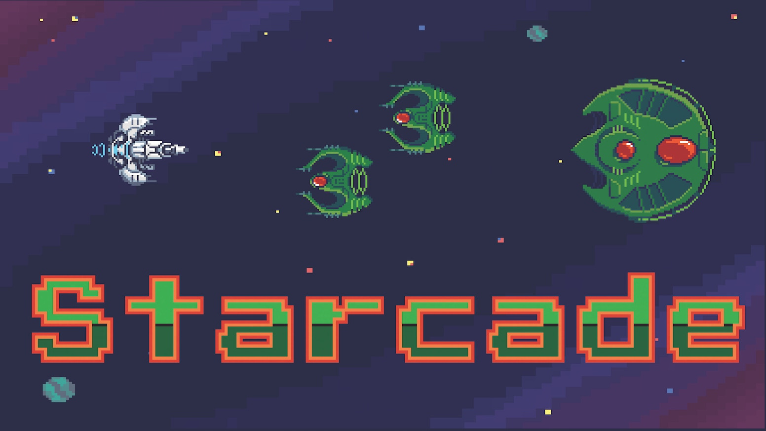 A Retro inspired space game with 3 distinct game modes: SOLO, Player vs Player, and CO-OP in one pack!