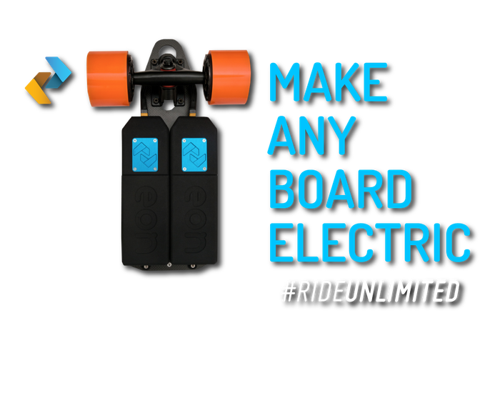 Unlimiteds eon worlds 1st electric skateboard powertrain by convert any skateboard to an electric in seconds with an ultra light bolt solutioingenieria Choice Image