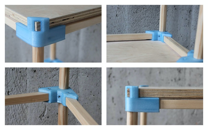 The 3D-Printed components of Stool One