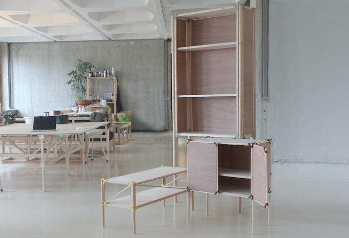 By adjusting dimensions, Cupboard One could transform into a large bookshelf or small shoe-rack.