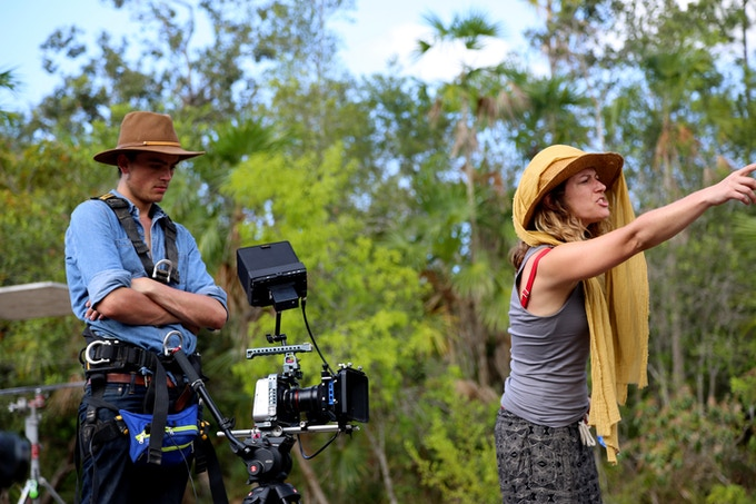 DP Robert Dugan and Director Ilana Lapid shoot a scene in Mountain Pine Ridge.